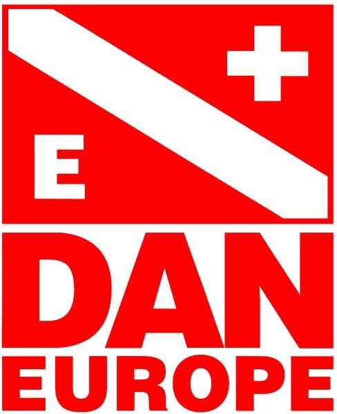 Logo de DAN garantía de seguridad en centro de buceo Tenerife Sur Las Galletas y La Gomera