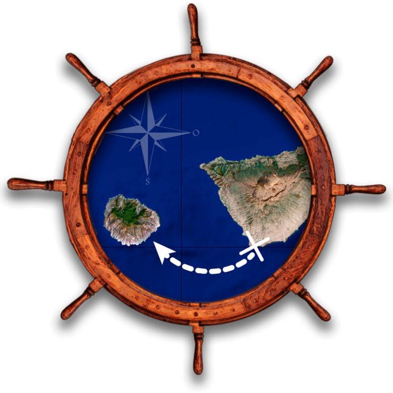 Excursion descubre La Gomera desde Las Galletas en barco yate de buceo - Mapa del trayecto