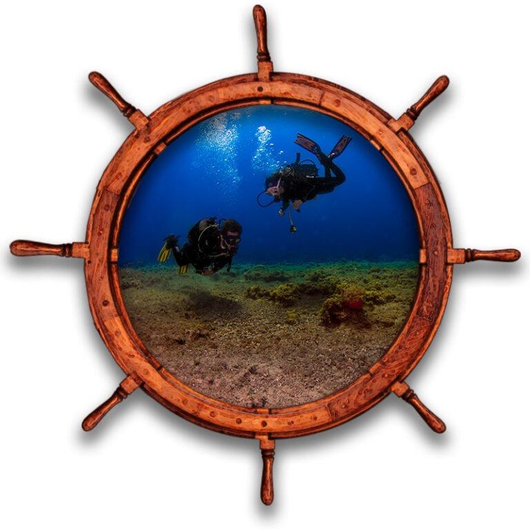 Inmersión de buceo de dos buceadores en Tenerife Sur Las Galletas y La Gomera